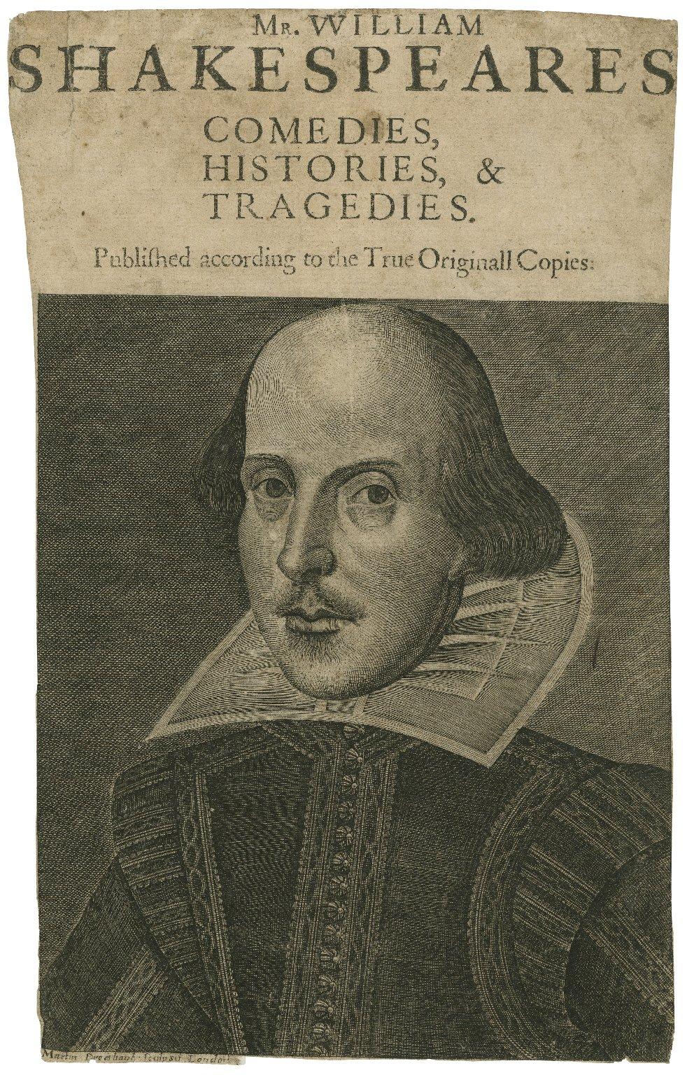 [Droeshout portrait of Shakespeare] [graphic] / Martin Droeshout sculpsit London.