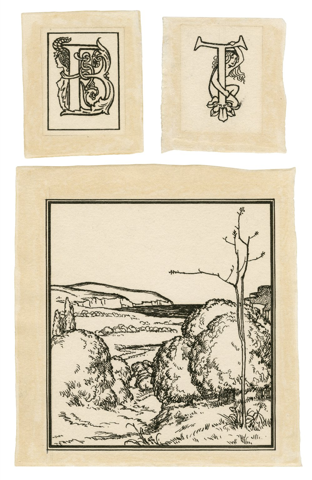 [Illustration and illuminated initial letters for Bell's edition of The tempest] [graphic] / [Robert Anning Bell].