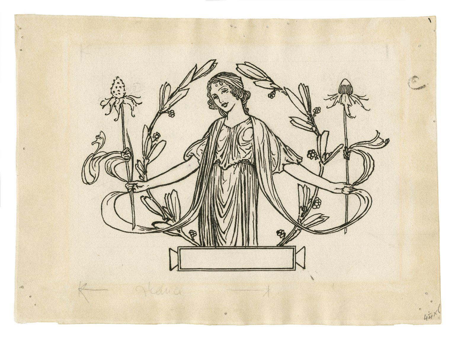 [Decorative tail-piece to page 79 of Bell's edition of The tempest] [graphic] / [Robert Anning Bell].