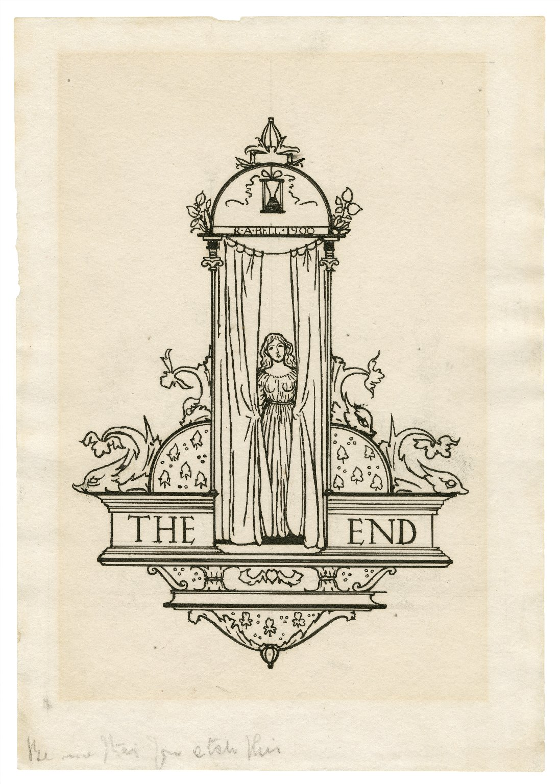 [Design for final illustration to Bell's edition of The tempest] [graphic] / R.A. Bell, 1900.