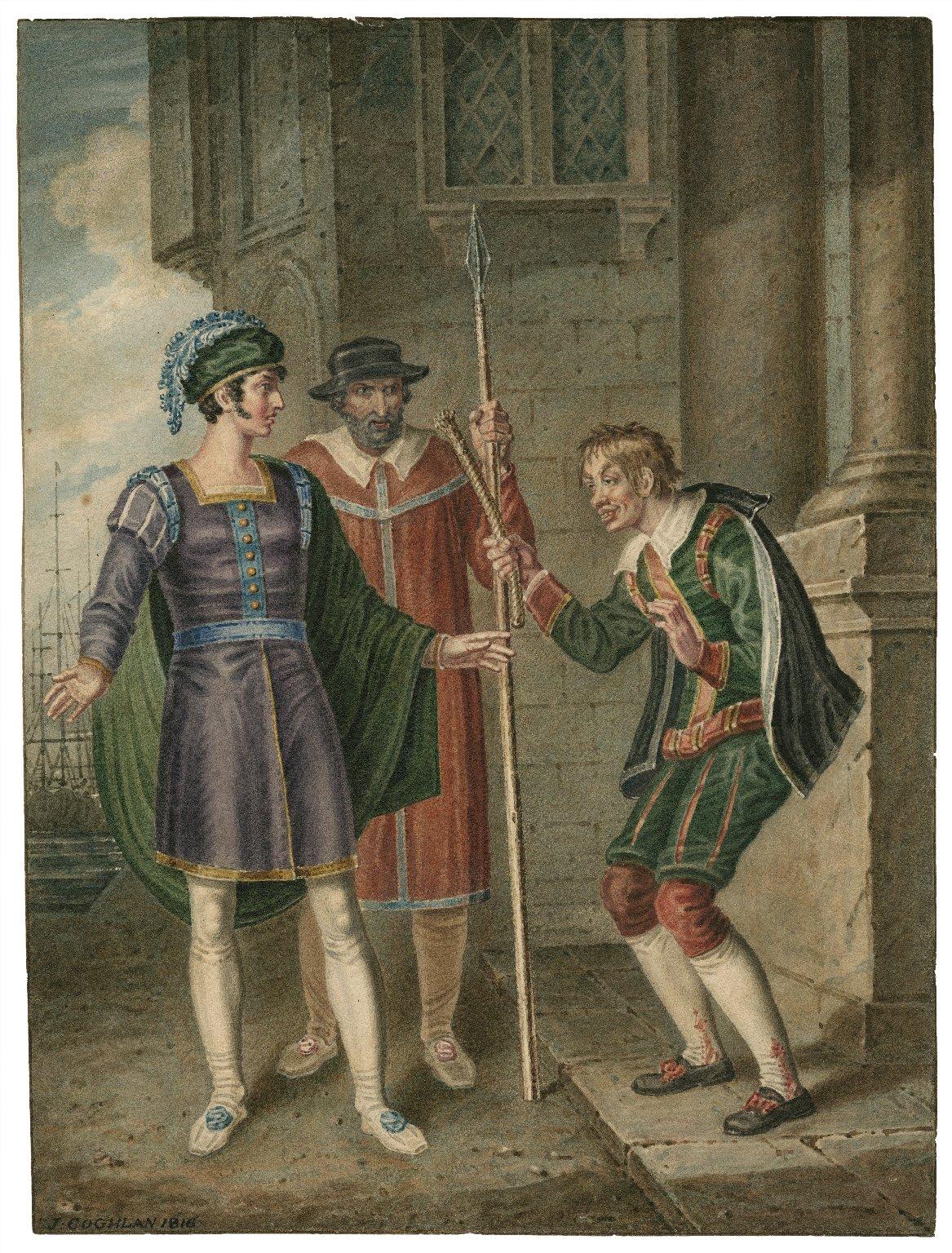 [Comedy of errors, IV, 1, Antipholus of Ephesus, an officer and Dromio of Ephesus] [graphic] / J. Coghlan.