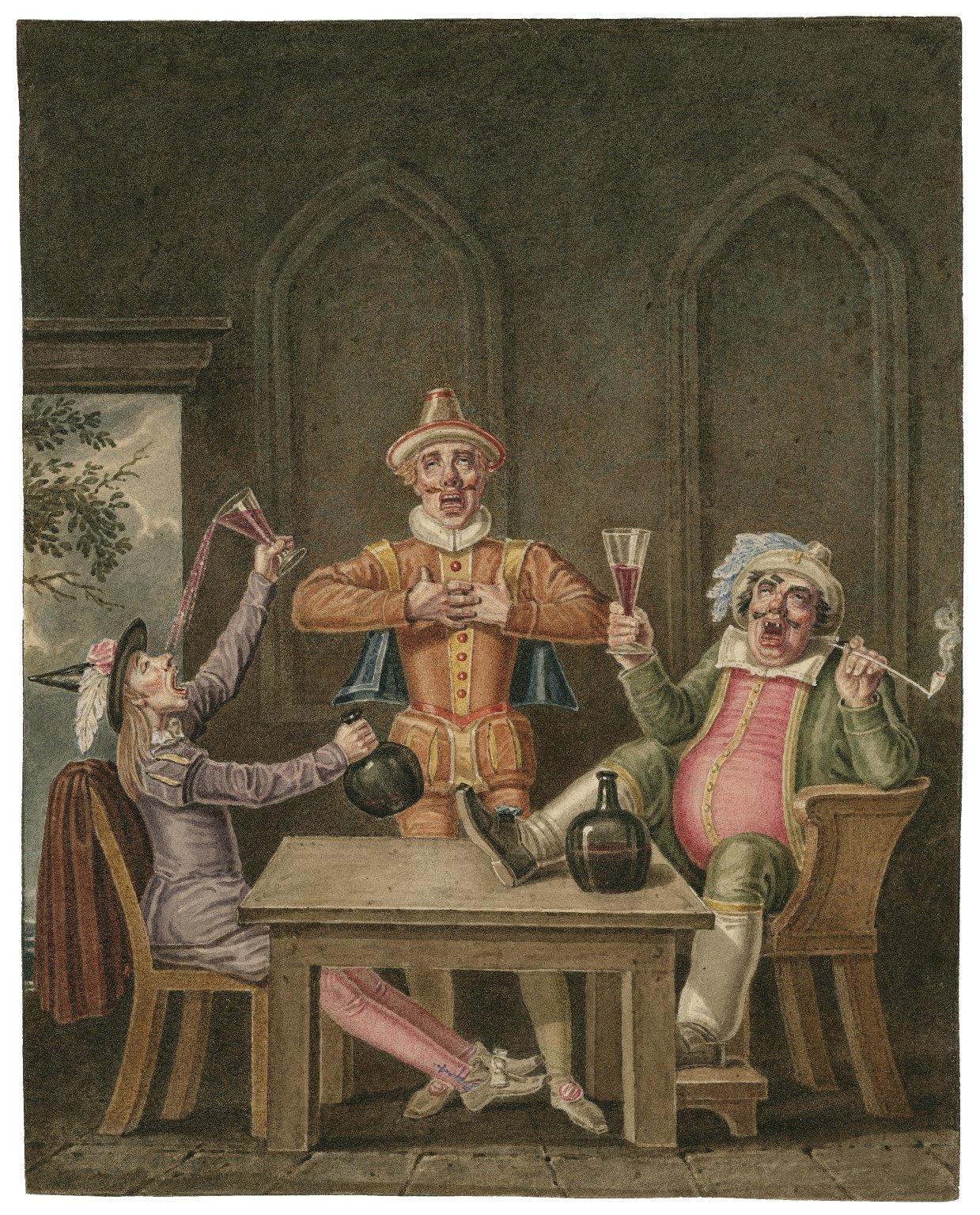 Twelfth night [I, 3] Sir Toby Belch, Sir Ague-cheek and Clown [graphic] / [J. Coghlan].