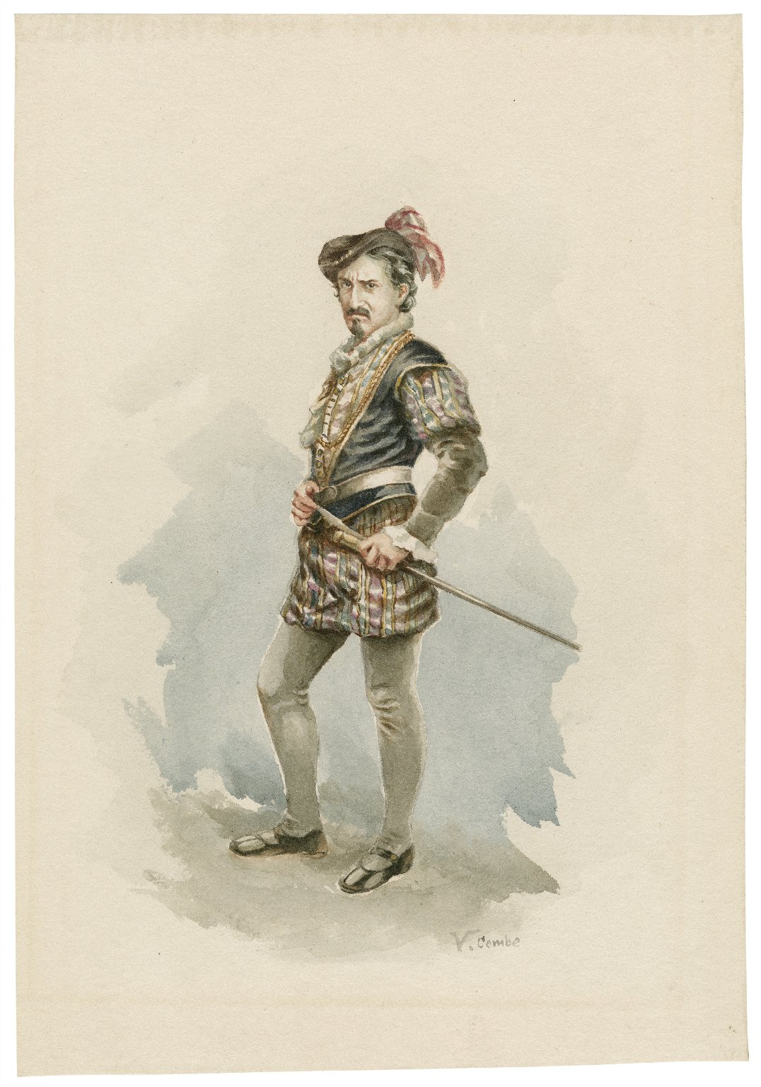 Edwin Booth as Iago ... [graphic] / V. Combe.