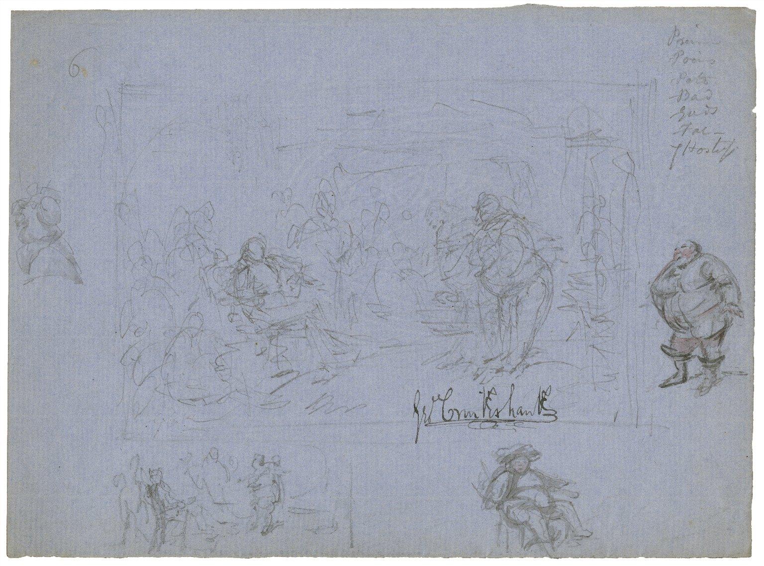 [Falstaff sketches, King Henry IV, pt. 1, act II, scene 4] [graphic] / Geo. Cruikshank.