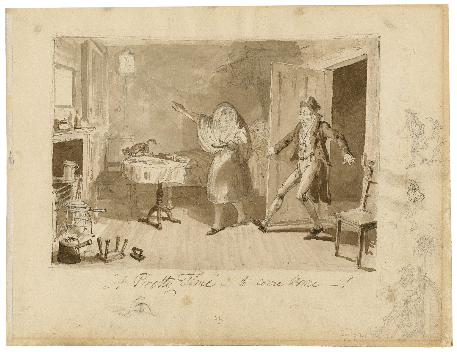 A pretty time to come home [graphic] / [George Cruikshank].