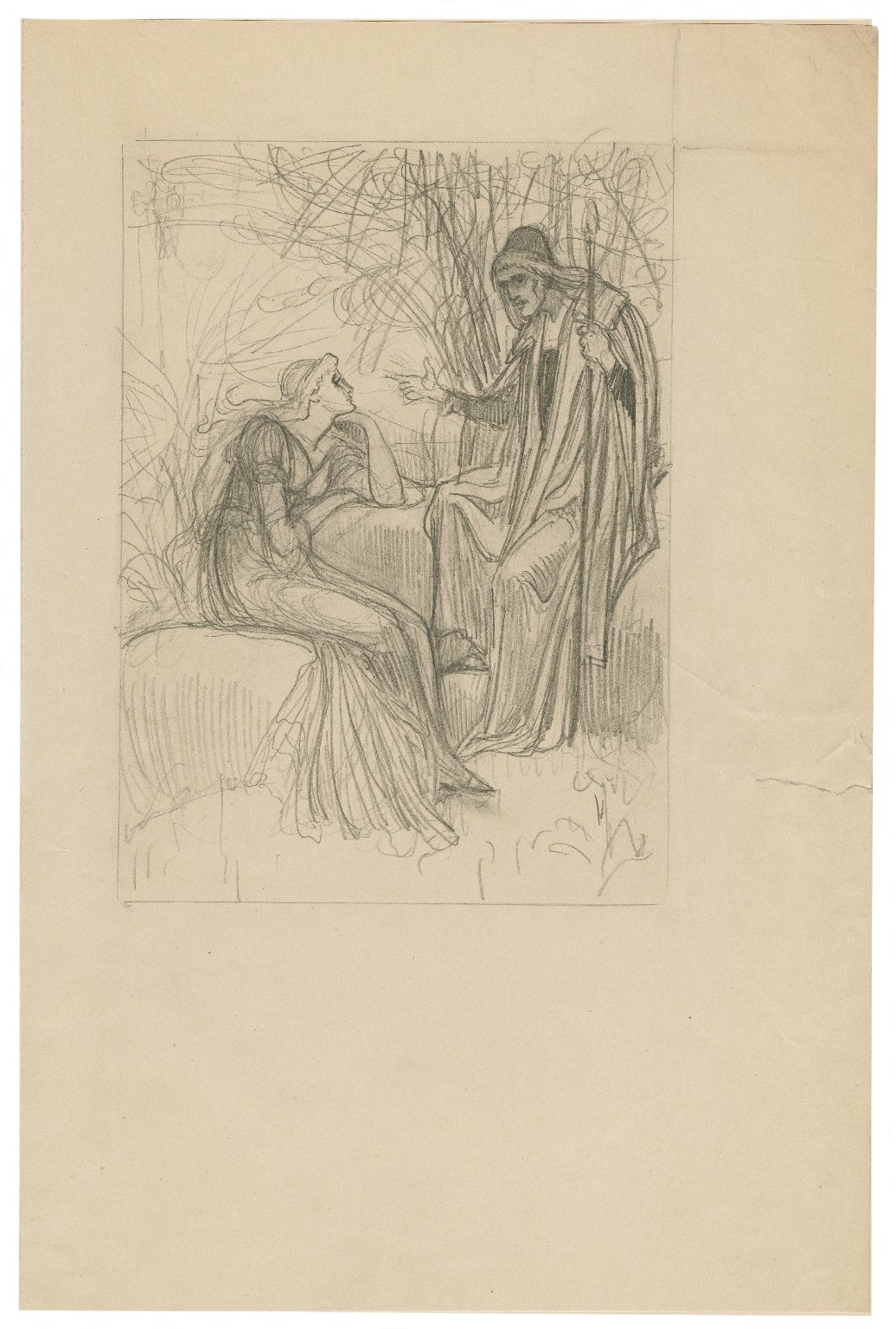 [Tempest, act I, scene II, Prospero: by accident most strange, bountiful fortune, now my dear lady, hath mine enemies brought to this shore] [graphic] / [Walter Crane].
