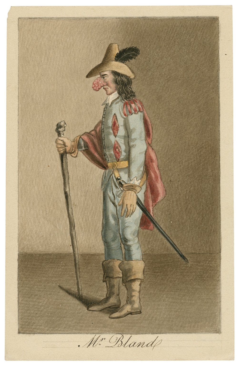 Mr. Bland, actor and dramatist (as Bardolph) [graphic] / [George Harding].