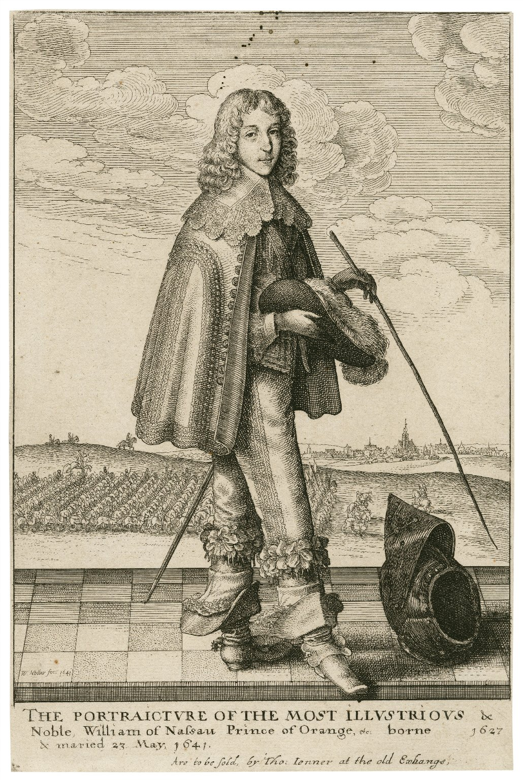 The portraicture of the most illustrious & noble, William of Nassau Prince of Orange, etc., borne 1627 [sic] & maried 23 May 1641 [graphic] / W. Hollar, fec.