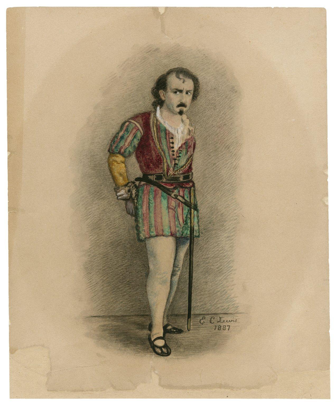 [Edwin Booth as Iago] [graphic] / E.C. Lewis.