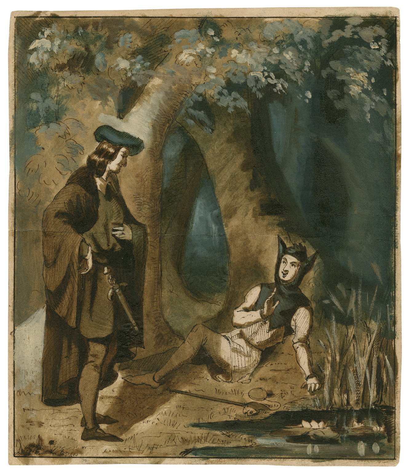 [As you like it, act II, scene 2, Touchstone and Corin] [graphic] / [Henry Stacy Marks].