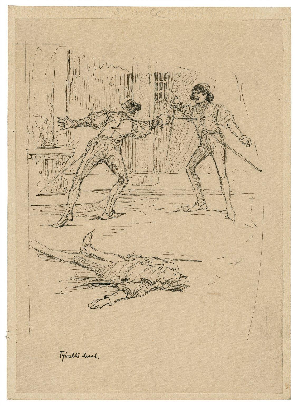 Tybalt's duel [graphic] / [Louis Rhead].