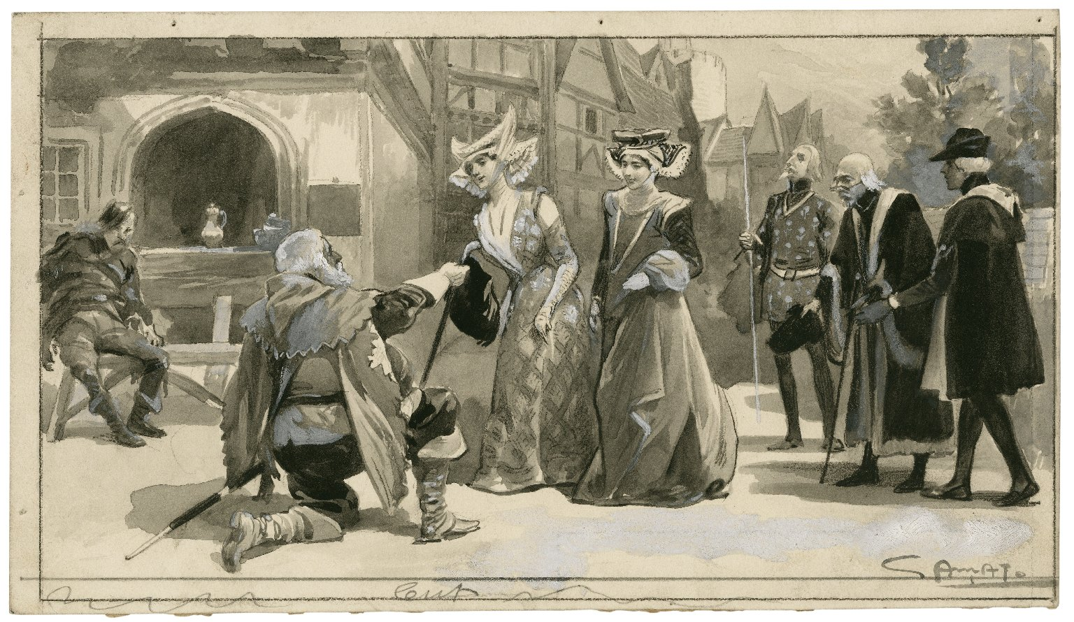 Merry wives of Windsor at Her Majesty's [Theatre] [graphic] / [C.?] Amat.
