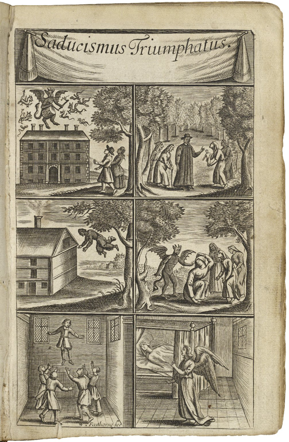 Saducismus triumphatus: or, Full and plain evidence concerning witches and apparitions. In two parts. The first treating of their possiblity. The second of their real existence. By Joseph Glanvil ...