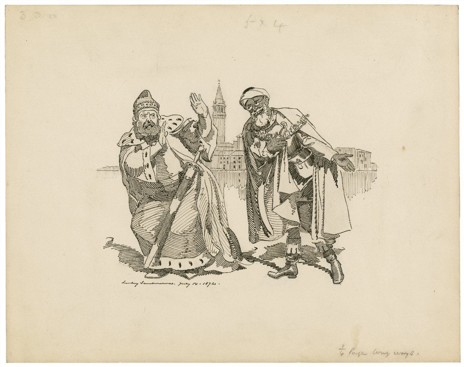 The moor and the king [Titus Andronicus] [graphic] / Linley Sambourne.
