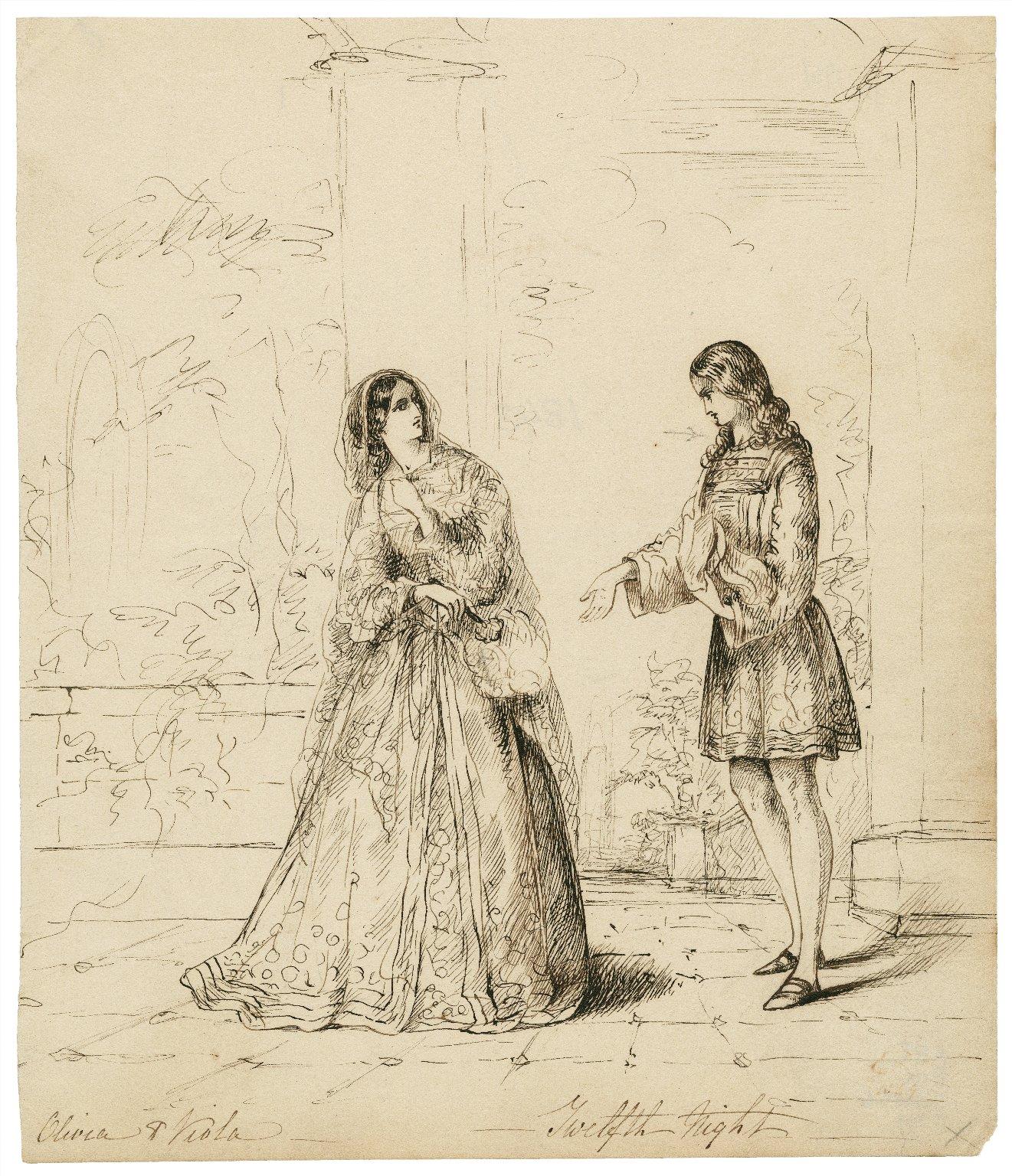 Twelfth night: Olivia and Viola [graphic].