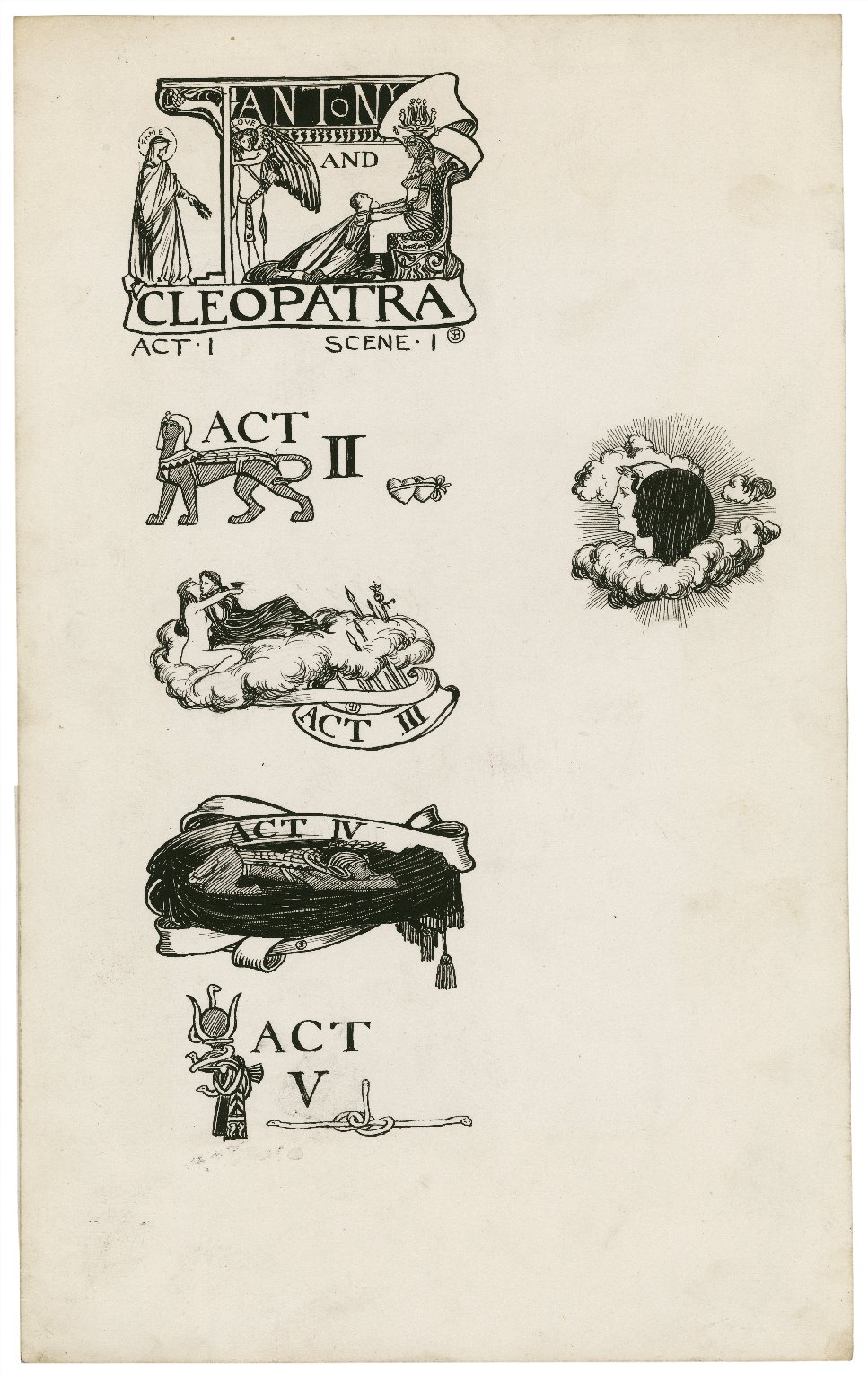Antony and Cleopatra, a set of seven original drawings [graphic] / [Byam Shaw].