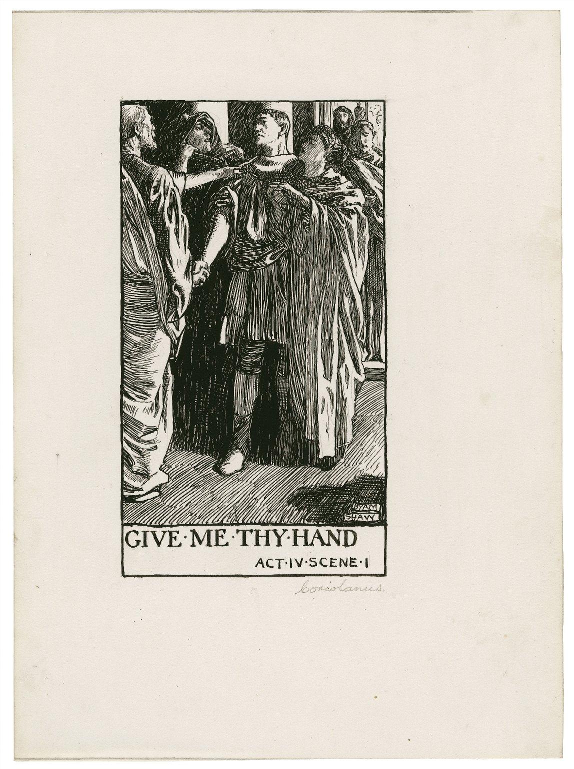Coriolanus, a set of seven original drawings [graphic] / [Byam Shaw].