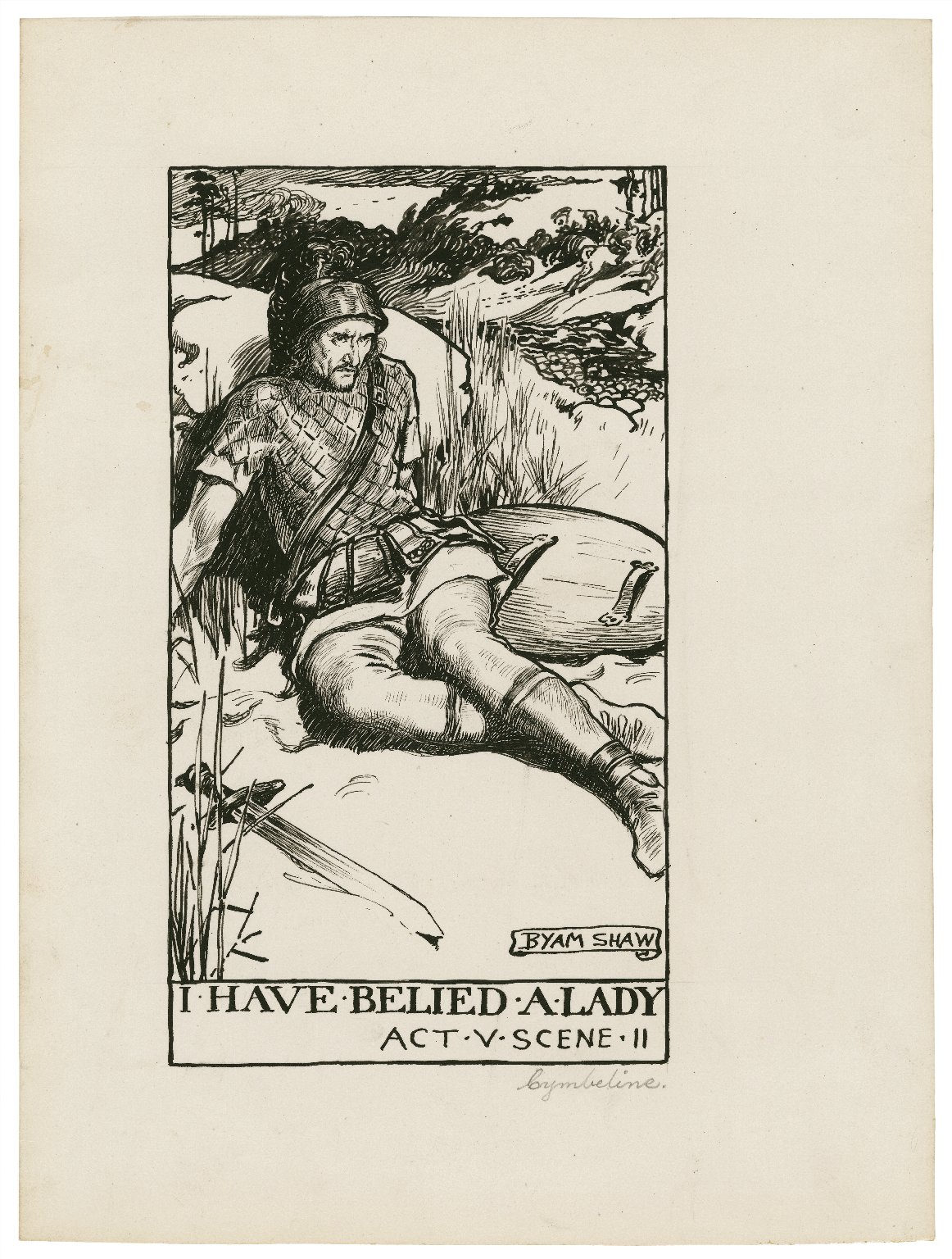 Cymbeline, a set of seven original drawings [graphic] / [Byam Shaw].