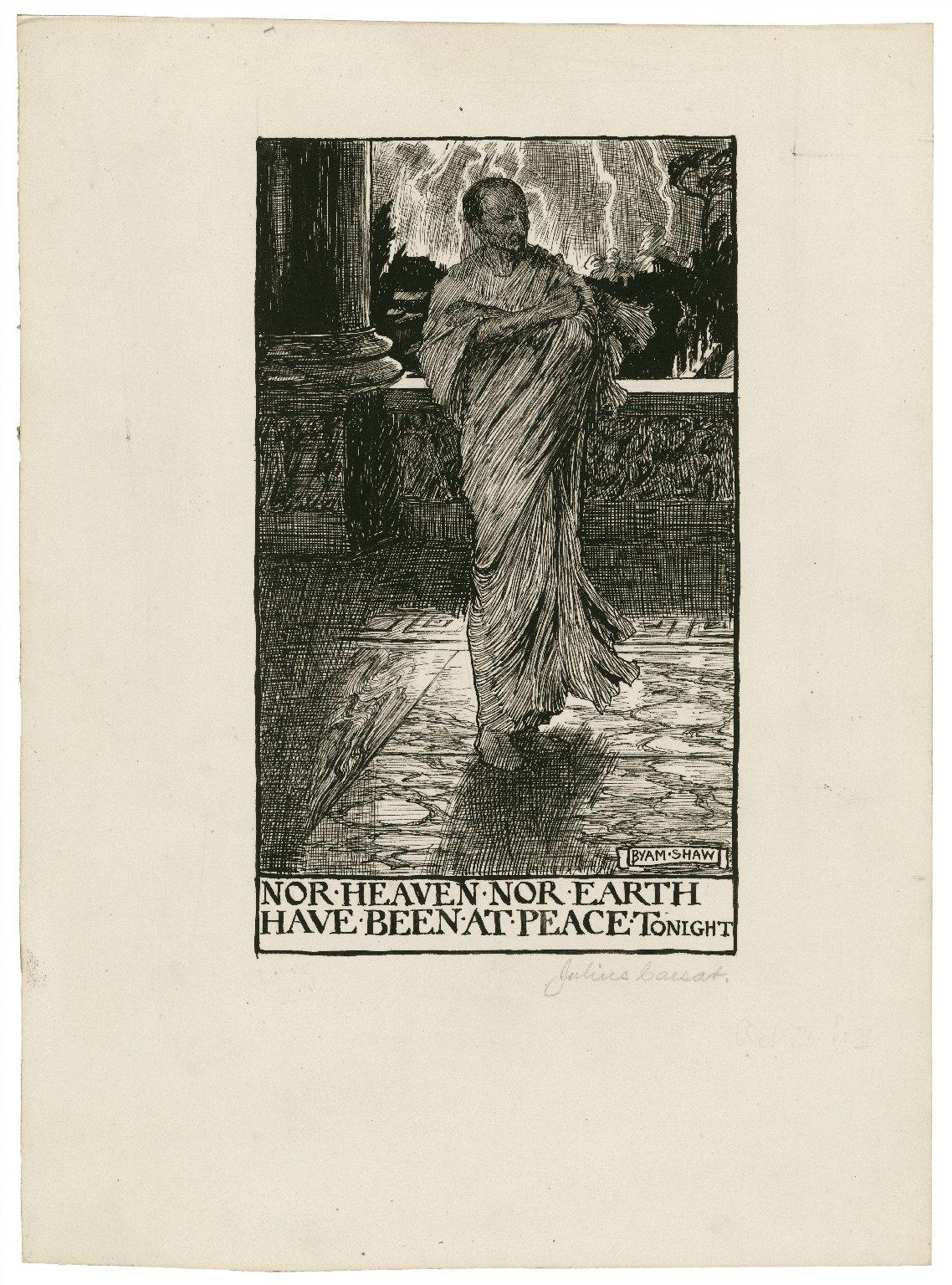 Julius Caesar, a set of seven original drawings [graphic] / [Byam Shaw].