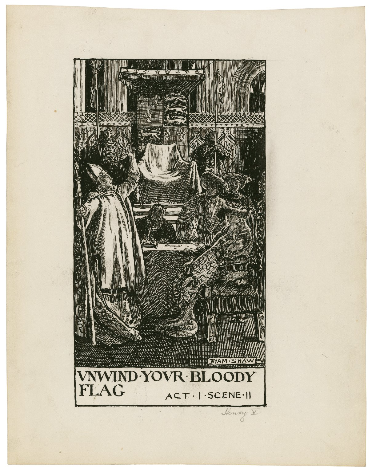 King Henry V, a set of seven original drawings [graphic] / [Byam Shaw].
