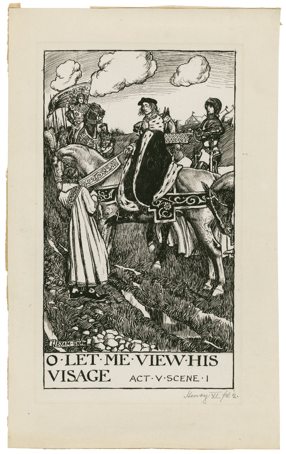 King Henry VI, part 2, a set of seven original drawings [graphic] / [Byam Shaw].