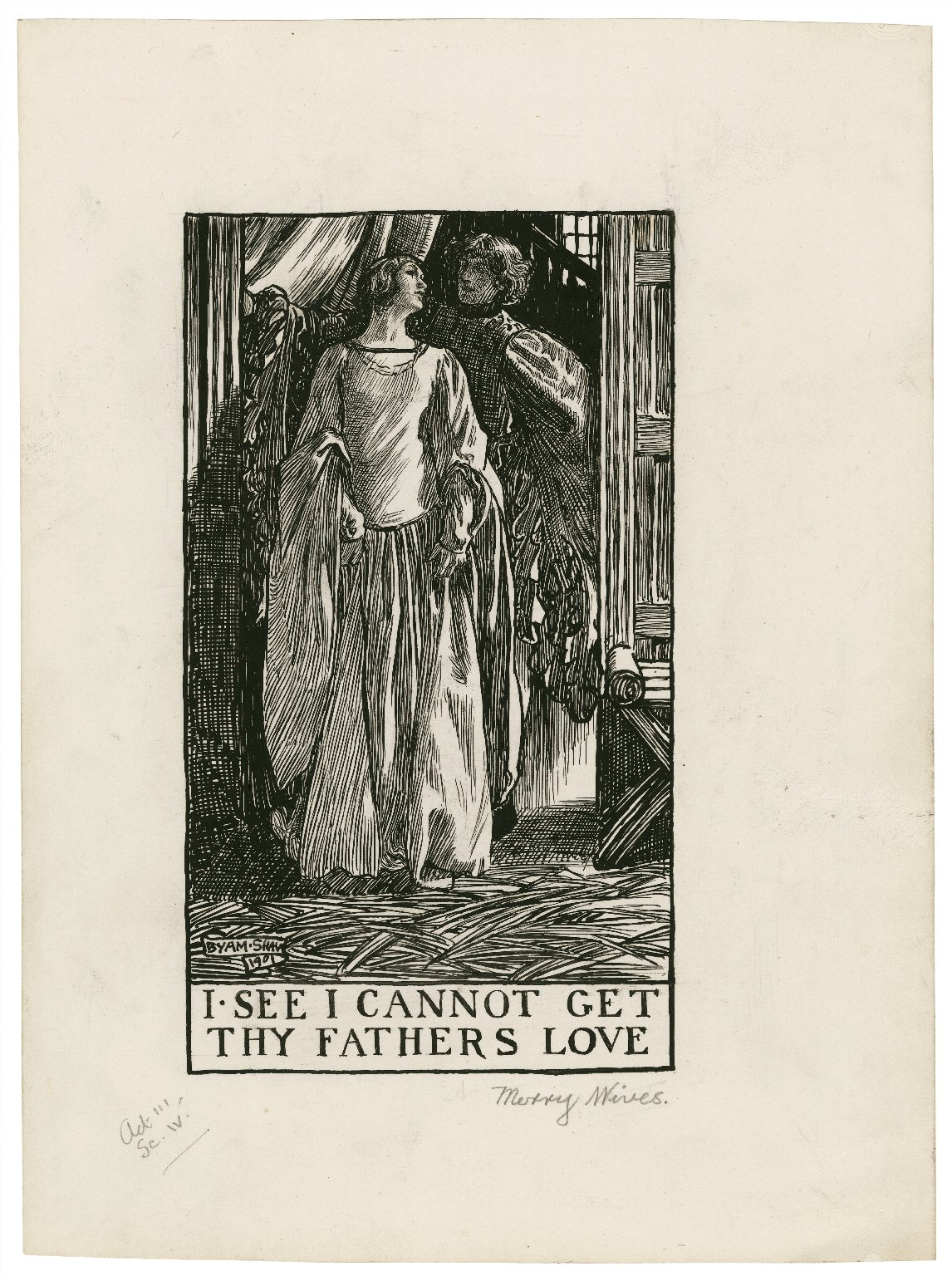 Merry wives of Windsor, a set of seven original drawings [graphic] / [Byam Shaw].