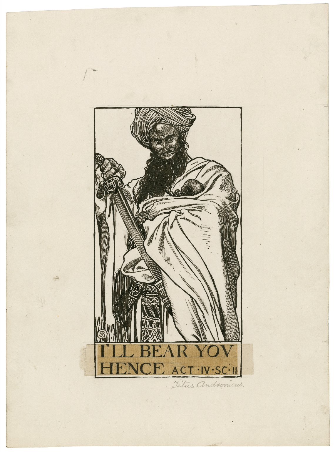Titus Andronicus, a set of seven original drawings [graphic] / [Byam Shaw].