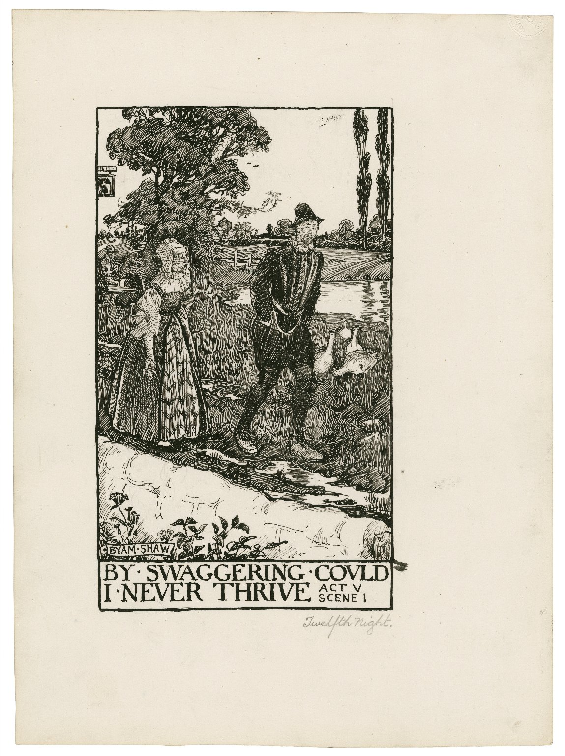 Twelfth night, a set of seven original drawings [graphic] / [Byam Shaw].