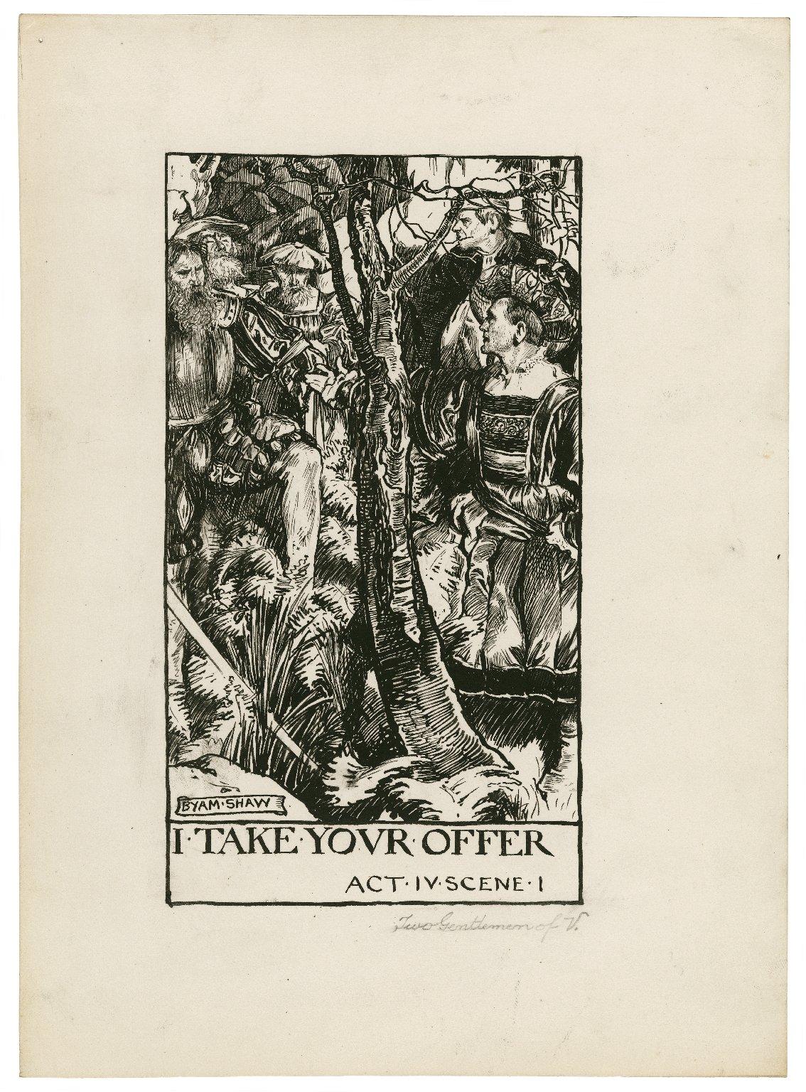 Two gentlemen of Verona, a set of seven original drawings [graphic] / [Byam Shaw].
