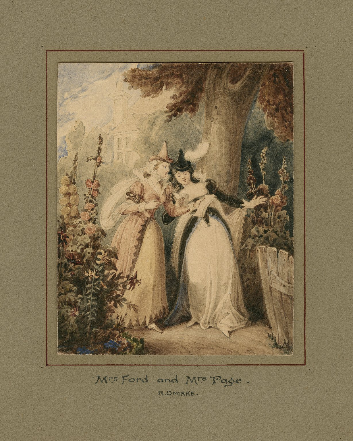 Merry wives of Windsor, II, 1, Mrs. Ford and Mrs. Page reading a letter [graphic].