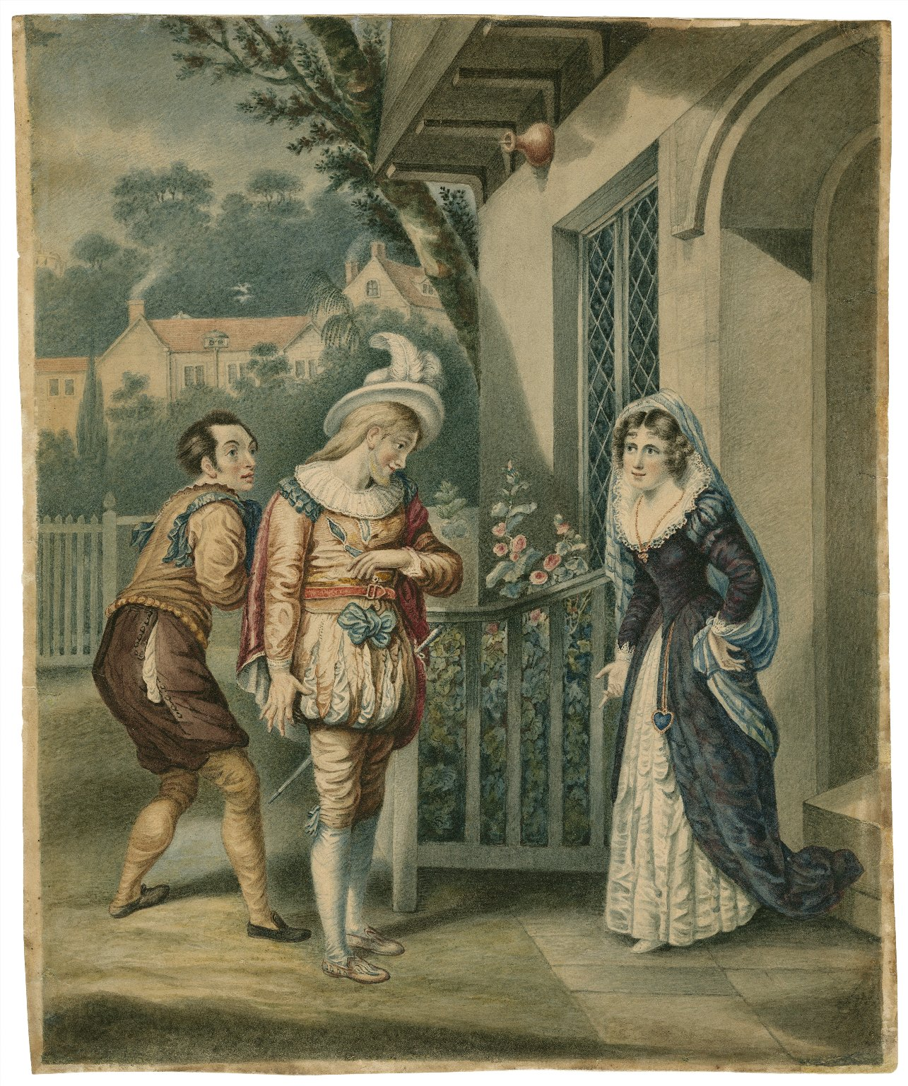 Merry wives of Windsor, III, 4, Anne Page and Slender [graphic].