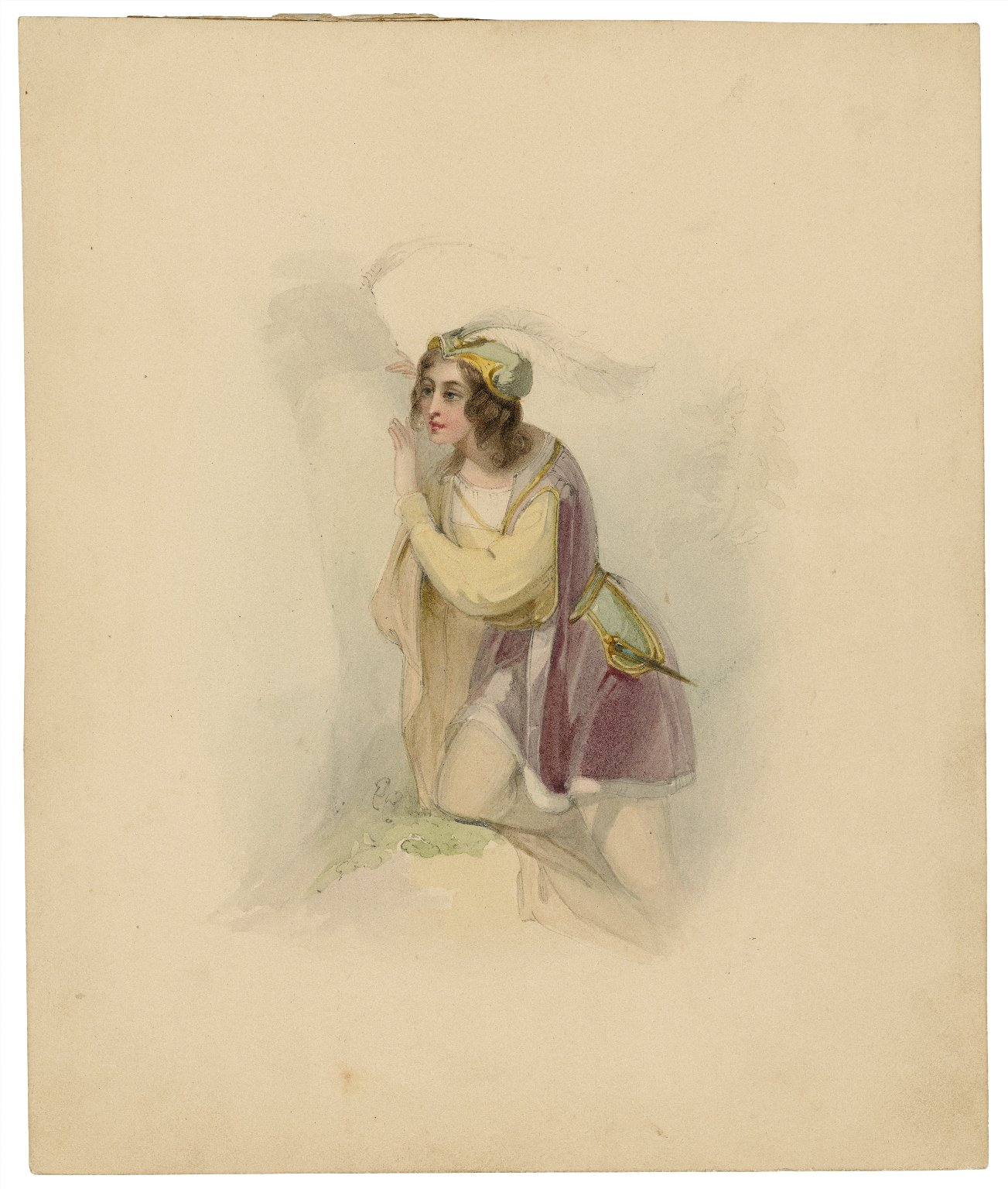 [Portrait of Rosalind in Shakespeare's As you like it] [graphic] / [J. Smith].