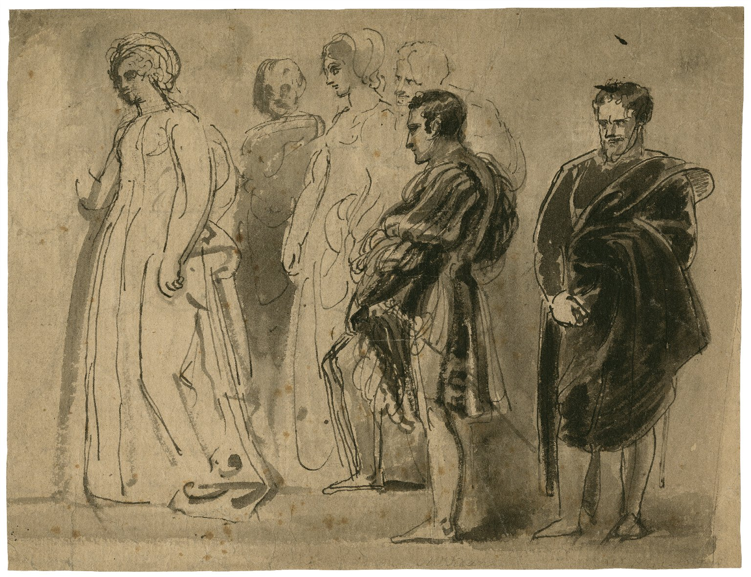[Study for the picture of Othello] [graphic].