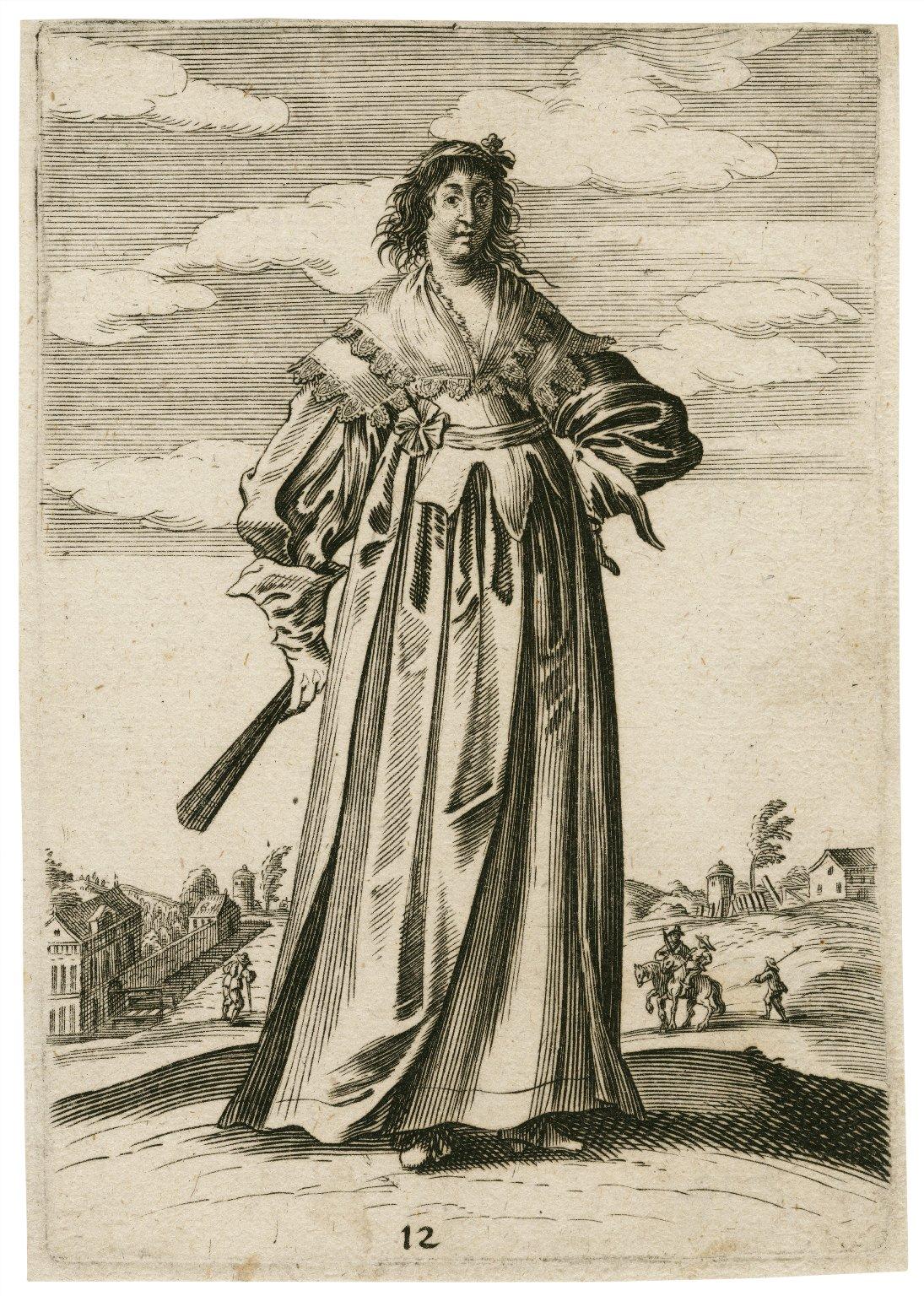 [Trachtenbilder: 12 engravings of men and women in fashionable dress] [graphic] / Georg Strauch, inventor ; Peter Troschel sculpsit.