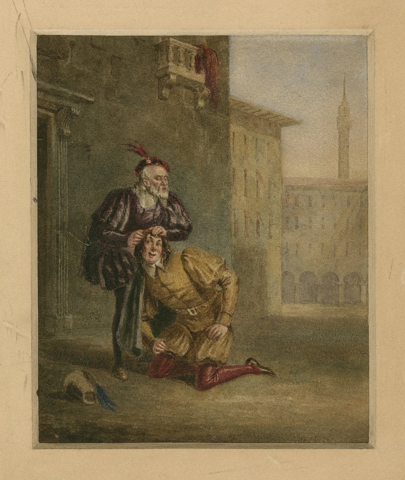 [Merchant of Venice, II, 2, Launcelot Gobbo and his blind father] [graphic] / [Henry Travis].
