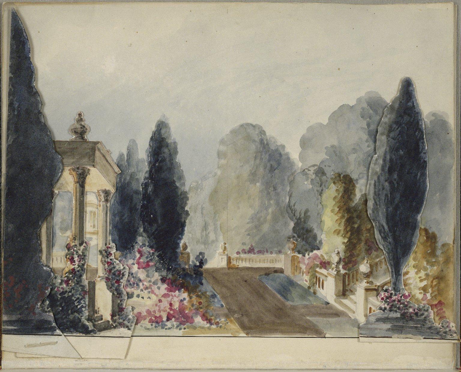 [Merchant of Venice] [Scene designs, probably Charles Marshall's originals for Macready's Drury Lane production of The merchant of Venice]
