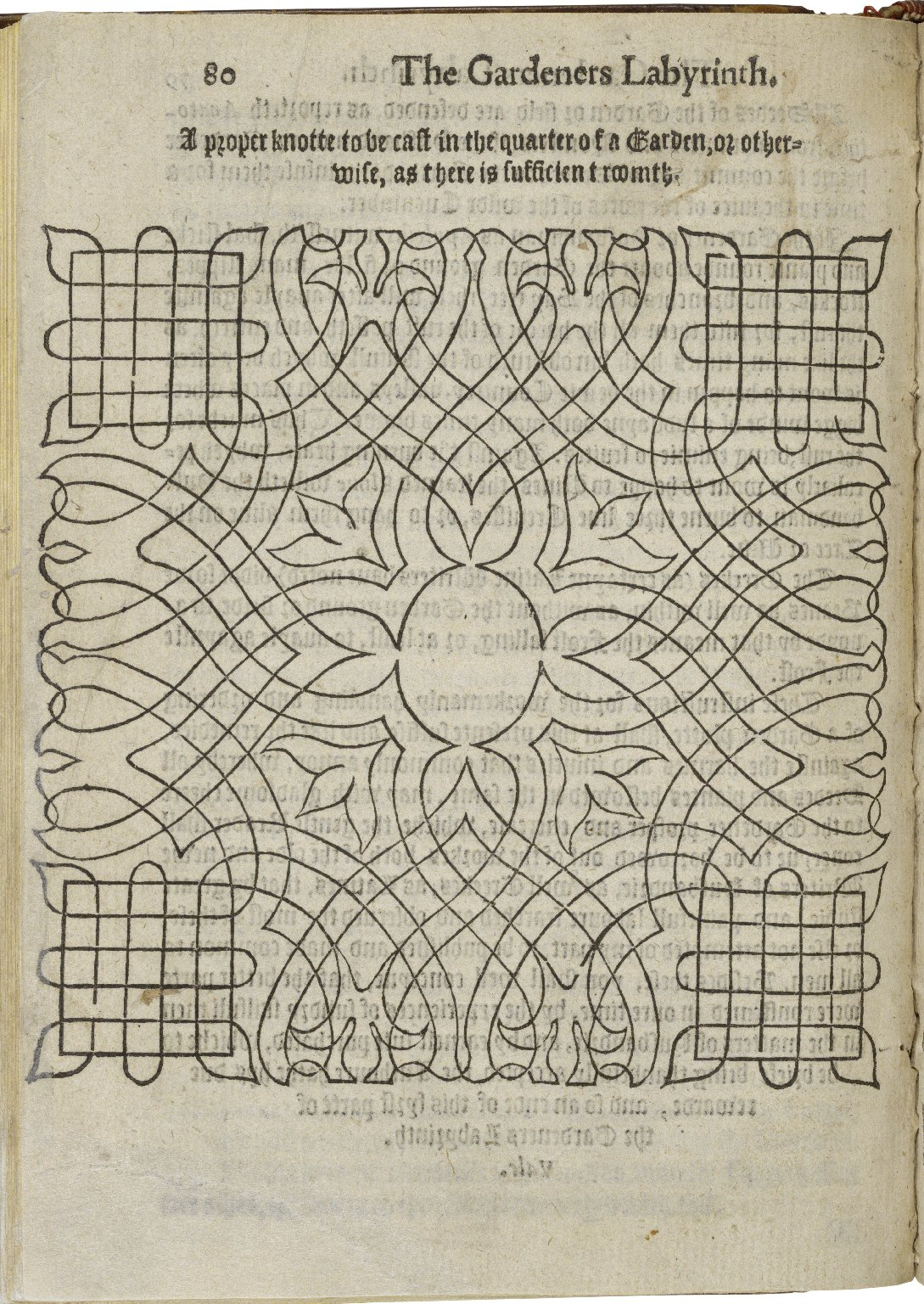 The gardeners labyrinth: containing a discourse of the gardeners life, in the yearly trauels to be bestovved on his plot of earth, for the vse of a garden: with instructions for the choise of seedes, ...