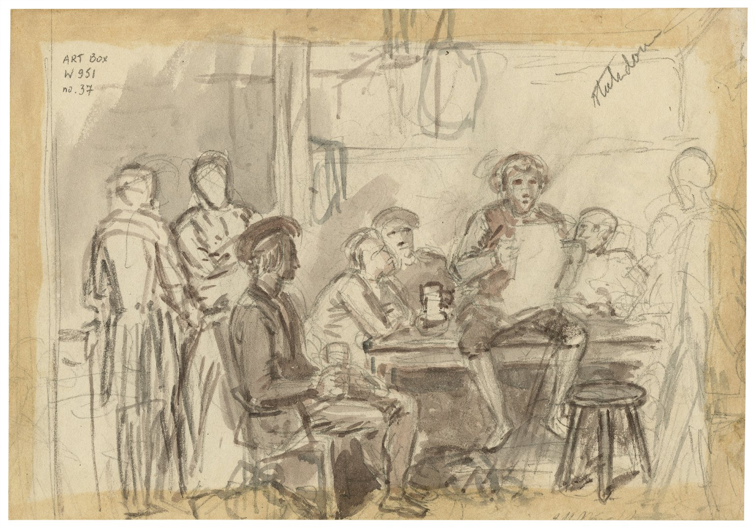 [Illustrations to Shakespeare - group scenes - unfinished] [graphic] / J.M. Wright.