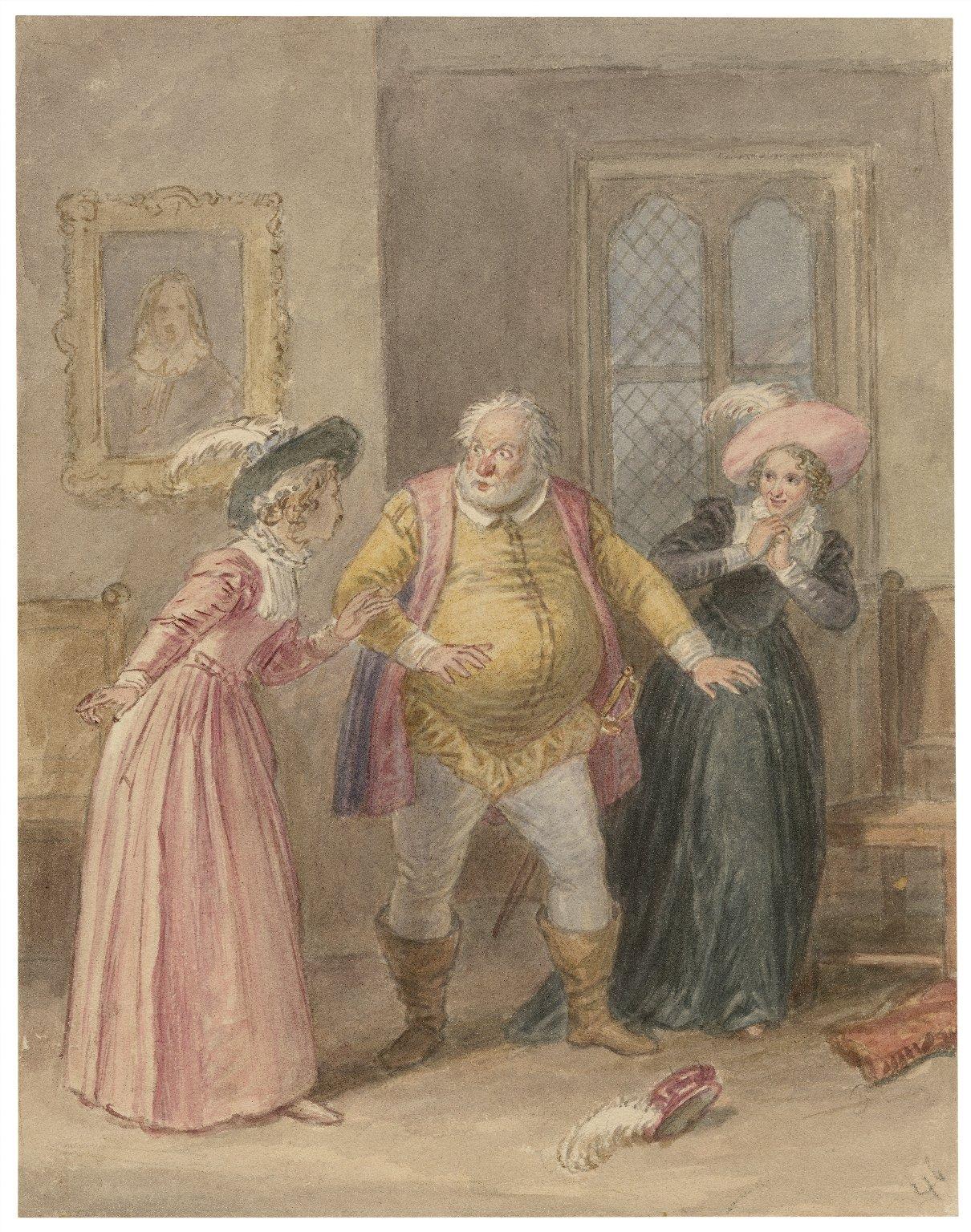 [Illustrations to Shakespeare's Falstaff plays] [graphic] / [John Massey Wright].