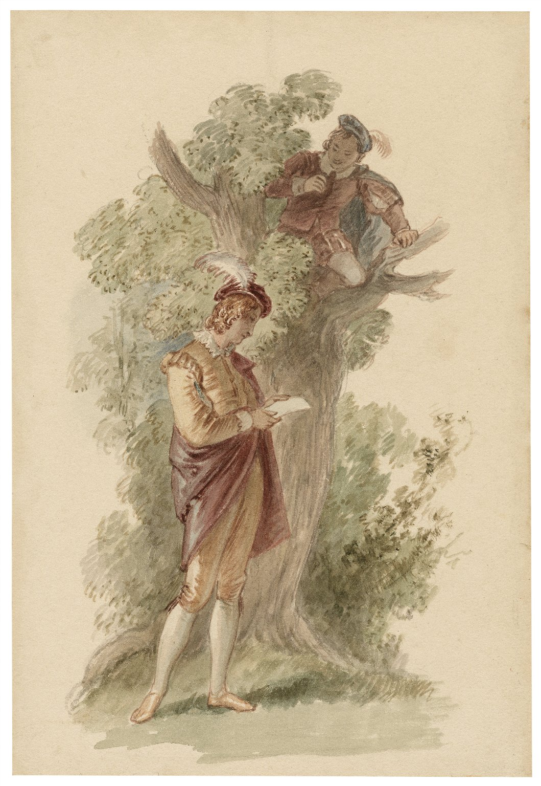 [A scene from Love's labour's lost - act IV, sc. 3] [graphic] / [John Wright].