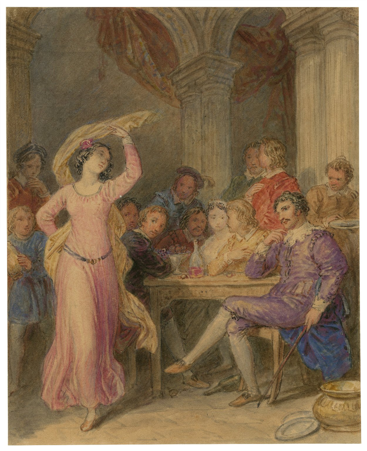 [Scene from Taming of the shrew - act V, sc. 2] [graphic] / [John Wright].