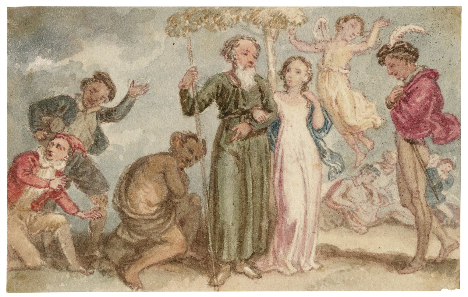 [Scenes from The tempest and Midsummer night's dream] [graphic] / [John Massey Wright].