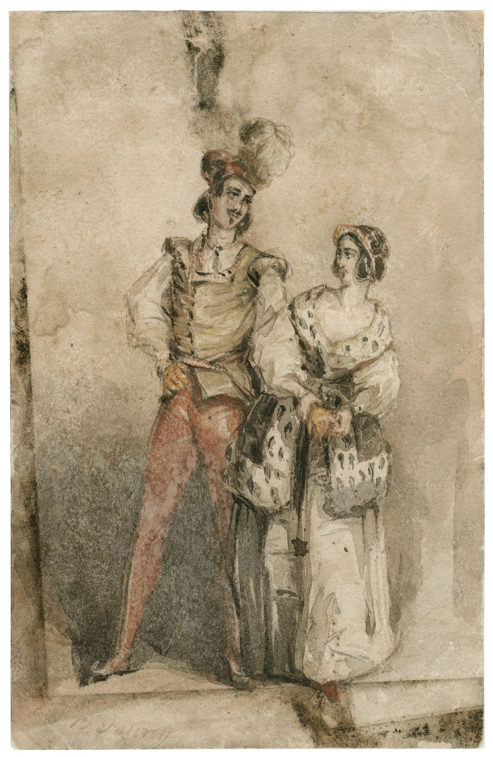 [King Henry IV, pt. 1: two figures conversing, probably Hotspur and Lady Percy] [graphic] / C.B. Young.