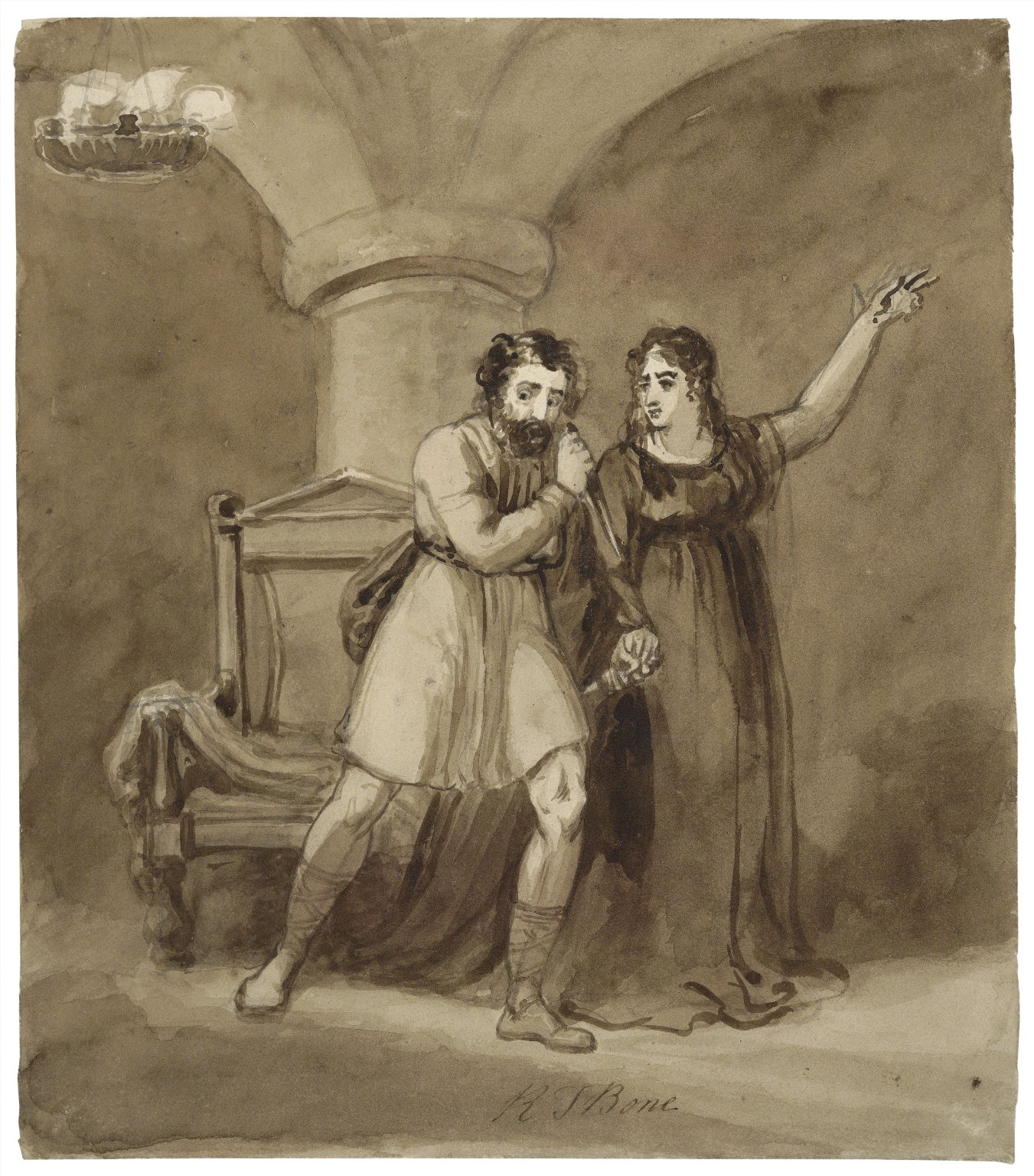 [Macbeth and Lady Macbeth, after the murder of Duncan] [graphic] / R.T. Bone.
