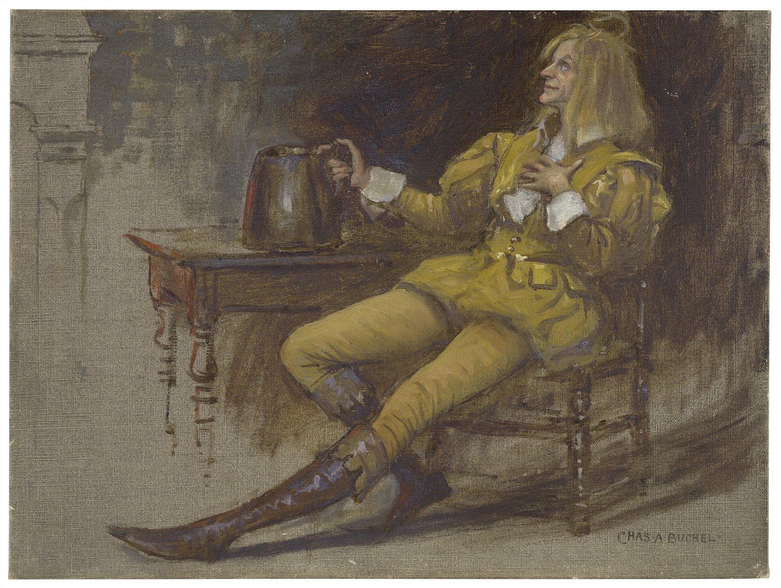 Norman Forbes as Sir Andrew Aguecheek [in Shakespeare's] Twelfth night [graphic] / Chas. A. Buchel.
