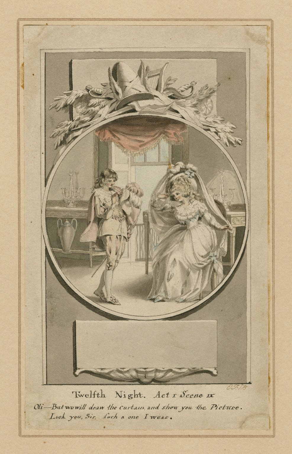 [Illustrations to Twelfth night and Merry wives] [graphic] / E.F. Burney.