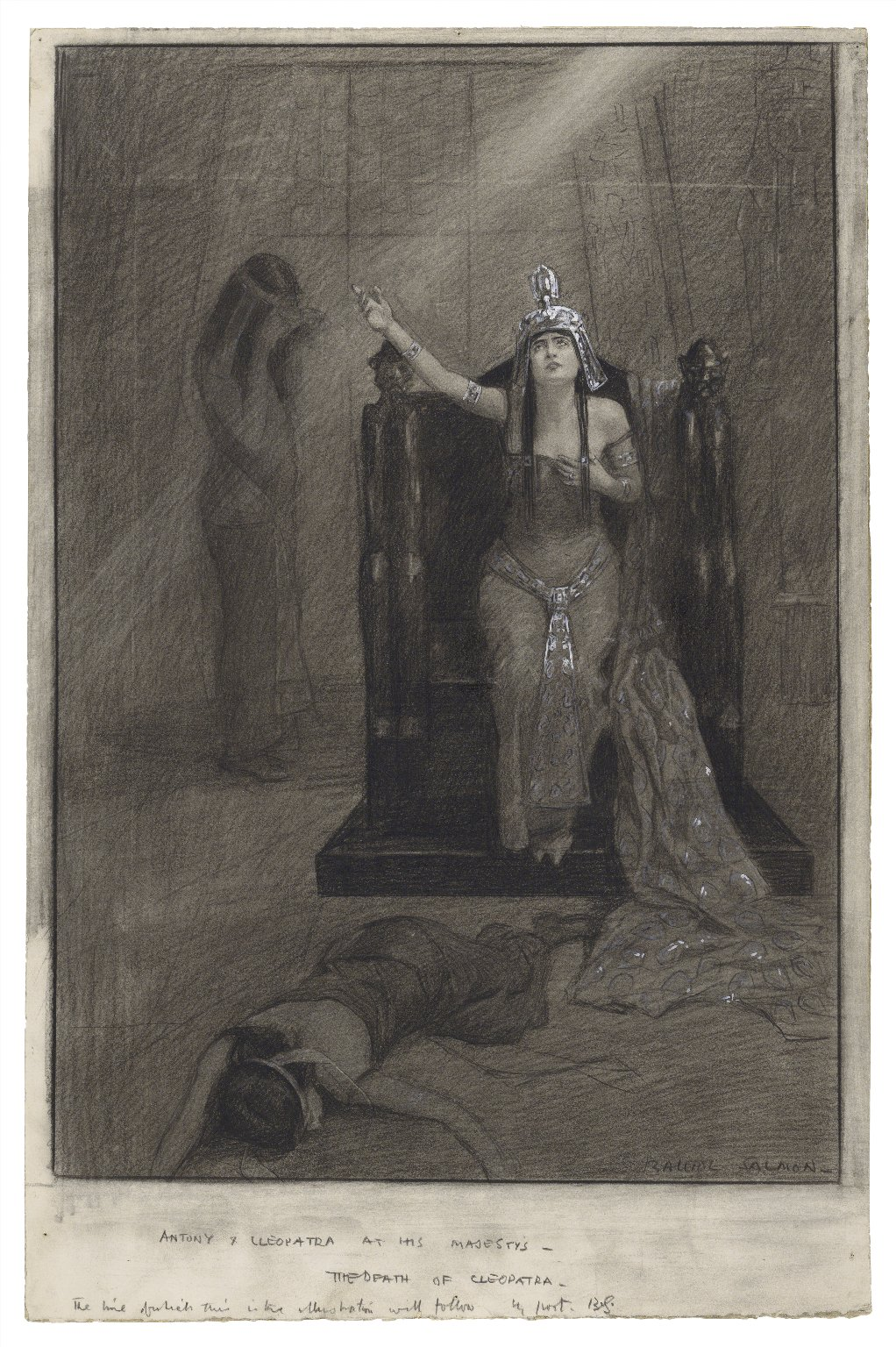 Antony & Cleopatra at His Majesty's - the death of Cleopatra [graphic] / Balliol Salmon.