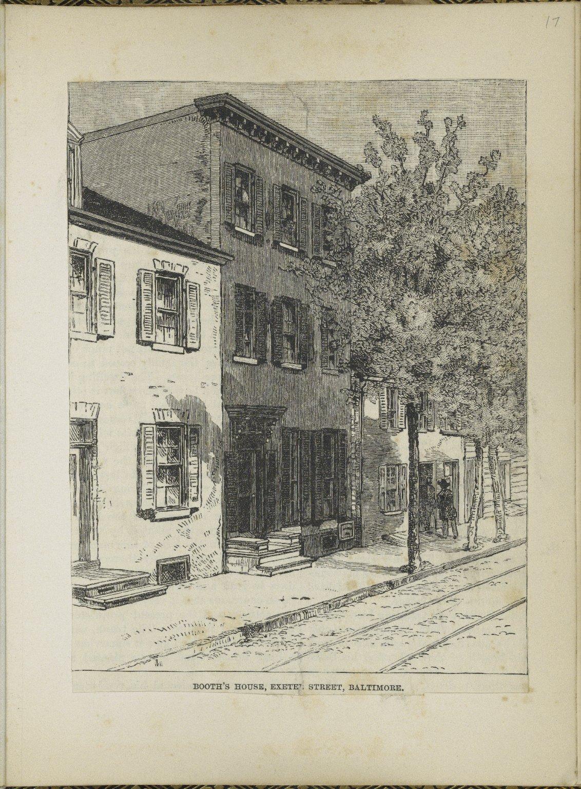 Scrapbook of material relating to Junius Brutus Booth [manuscript], 1815-1876.