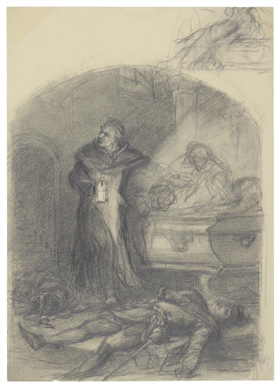 "Juliet & Friar, ""Romeo & Juliet"", act 4, scene 1 [graphic] / [Felix Darley]."