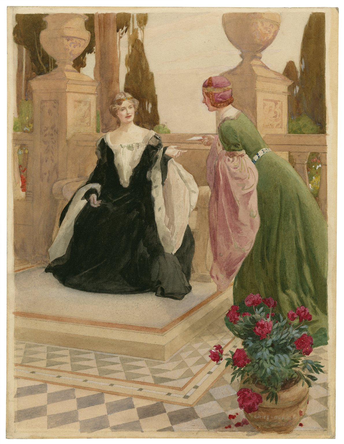 [Two gentlemen of Verona, act 1, scene 2, Julia and Lucetta in the garden] [graphic] / James Durden.